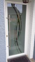 Porte entree PVC panneau de verre