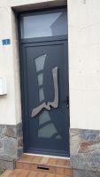Porte entree aluminium 7016