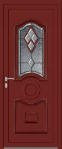 Ambleteuse - Vrai vitrail V4 Bevel rouge - 3004