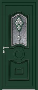 Ambleteuse - Vrai vitrail V4 Bevel vert - 6005