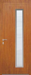 Athènes - droit - vitré sablage uni avec entourage inox - chêne doré