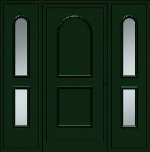 Avesnes - Plein - Tierces vitrées sablage uni