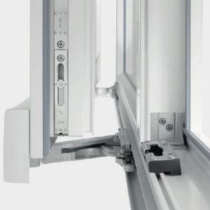 baie coulissante PVC à déboitement