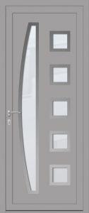 Brasilia - vitré sablage uni - gris argent 7001
