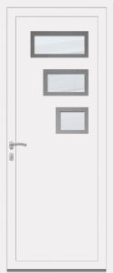 Canberra - Sablage uni - Pièces inox - Blanc 9010