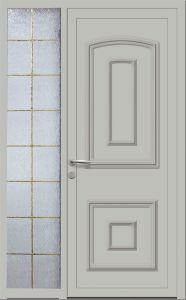 Merlimont - Plein + tierce vitrée - Gris 7035
