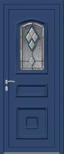 Merlimont - Vrai vitrail v4 bevel bleu - Bleu 5010