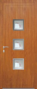 Paris - vitré V8SIL16 avec entourage inox - chêne doré