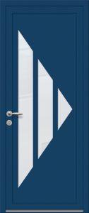 Prague - Sablage uni - Bleu 5010