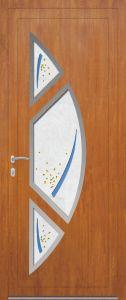 Rome - gauche - vitré V8PIL9 avec entourage inox 3 pièces - chêne doré