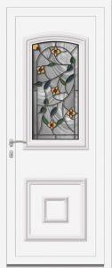 Wissant - Vrai vitrai V4 C Rose B - Blanc 9010