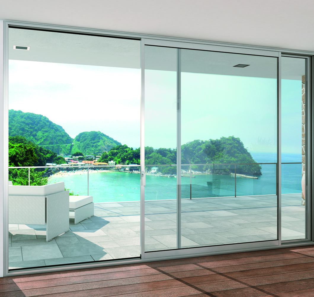 Les baies vitr es aluminium ternois fermetures - Fermeture baie vitree ...