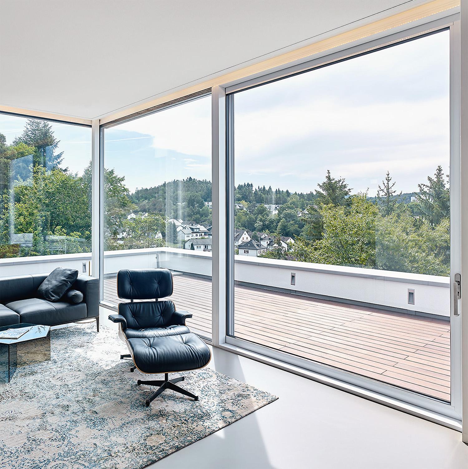 la baie coulissante avec partie fixe ternois fermetures. Black Bedroom Furniture Sets. Home Design Ideas
