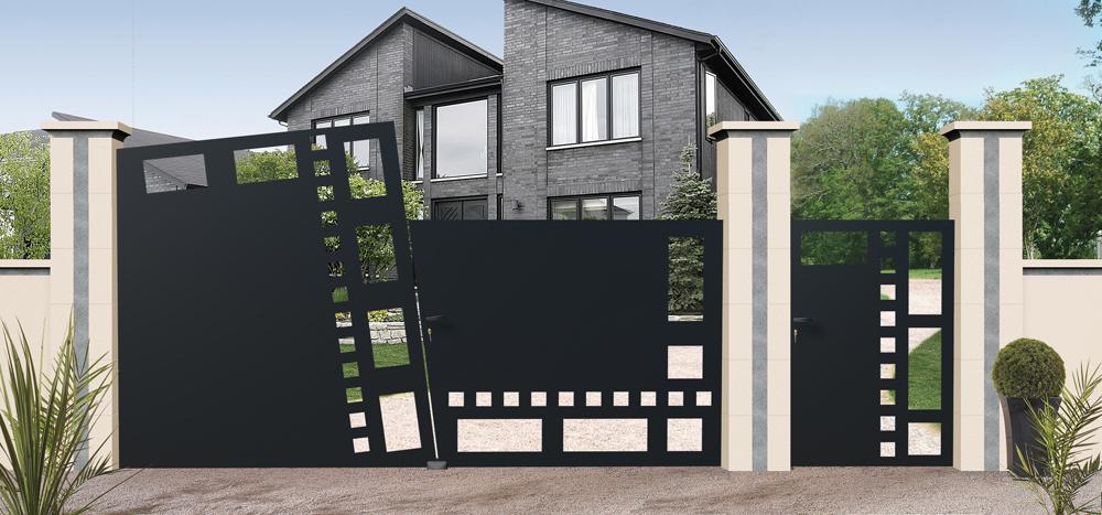 portails sur mesure. Black Bedroom Furniture Sets. Home Design Ideas
