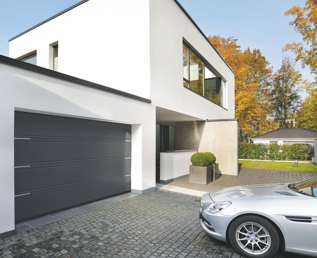 Portes De Garage Ternois Fermetures - Porte de garage sectionnelle avec porte entrée pvc ou alu