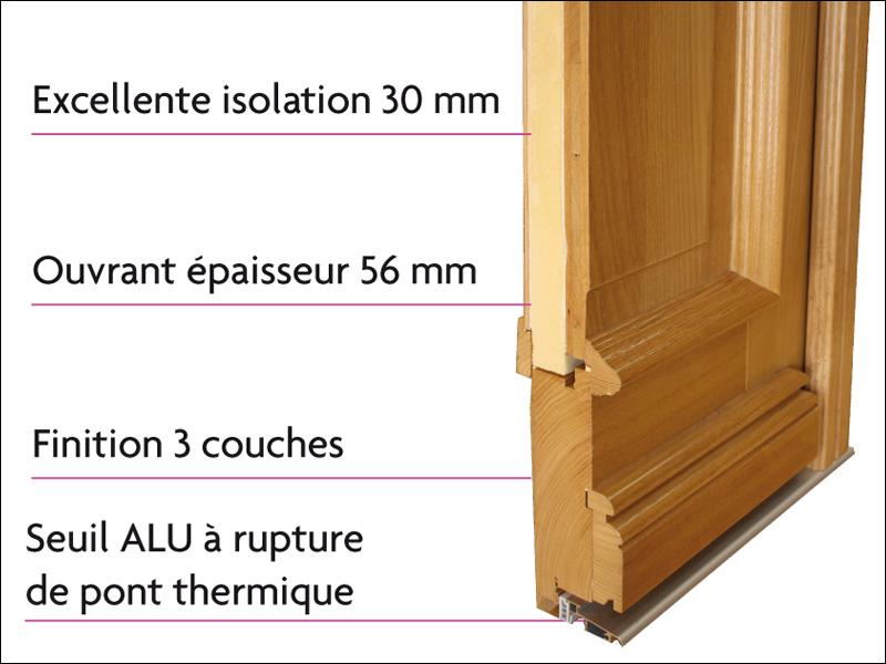 Les portes d 39 entr e bois tradition nature ternois fermetures - Seuil de porte isolant ...