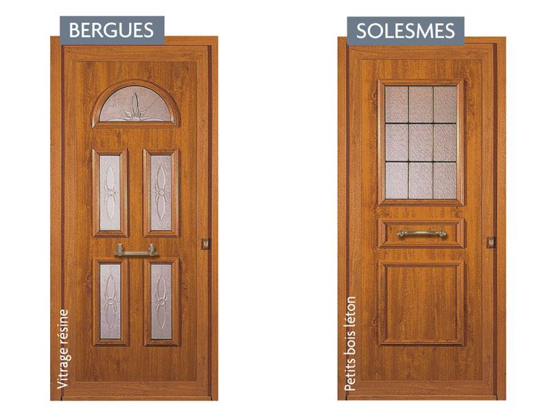 Porte pvc couleur bois for Pvc couleur bois